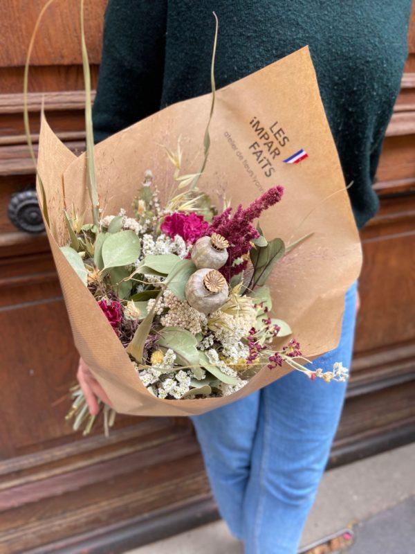 bouquet de fleurs séchées lyon
