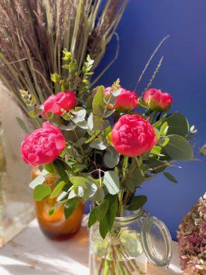 bouquet pivoines lyon